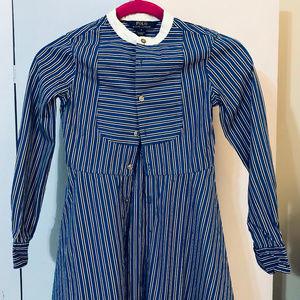 POLO Ralph Lauren Girls Tunic Shirt-Dress Blue/Blk